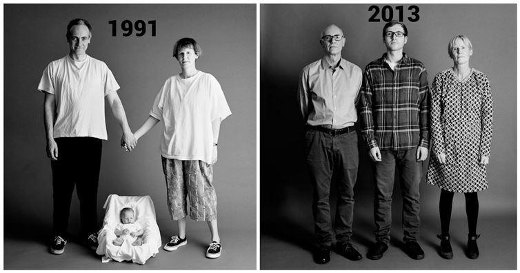 FOTOD: Meeliülendav - fotograaf tegi perekonnast iga aasta ühe foto ja nii 22 aastat järjest