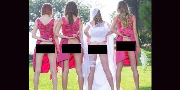 FOTOD: Uus trend pulmades - pruutneitsid näitavad oma paljast taguotsa