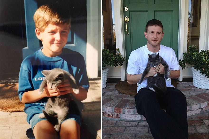 FOTOD: Enne ja nüüd fotod loomadest - samad olukorrad aastaid hiljem