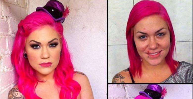 FOTOD: Jõhker muutus - pornostaarid enne ja pärast meiki