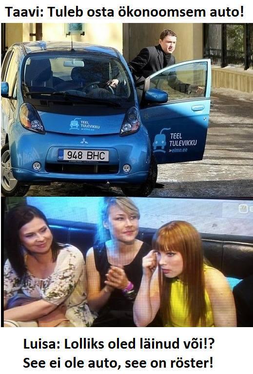 Taavi: Tuleb osta ökonoomsem auto!