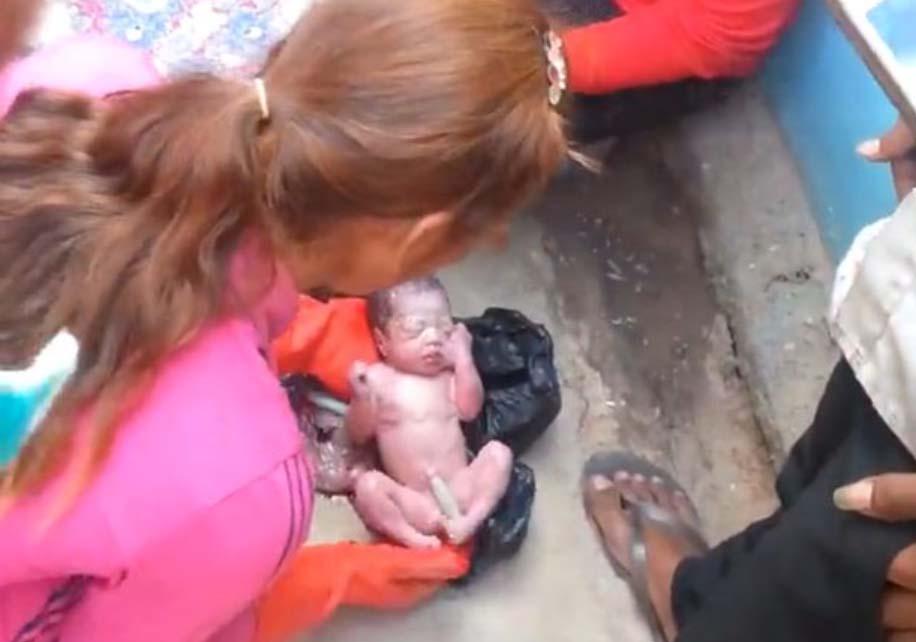 ÕÕVASTAV VIDEO: Prügikotist päästeti vastsündinu