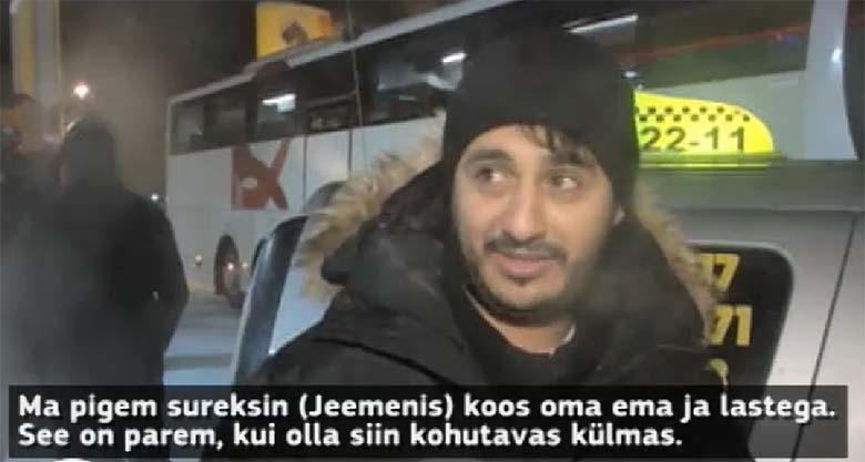 VIDEO: Pagulane sureks pigem kodumaal, kui kannataks siinset külma kliimat