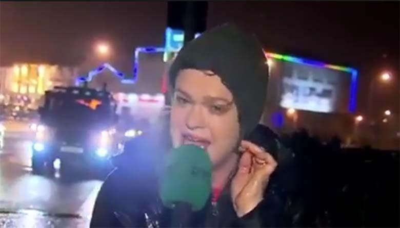 VIDEO: Väga hull õnnetus - vaata, mis selle reporteriga juhtub 20 sekundi pärast