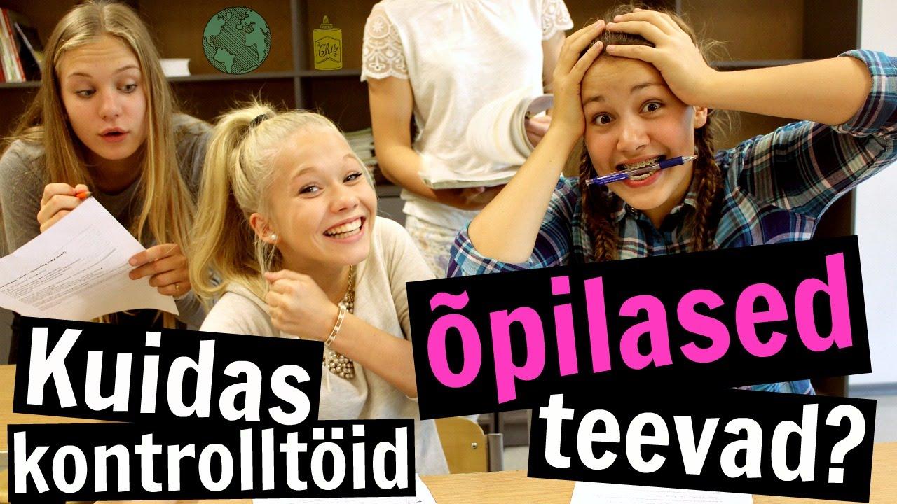 VIDEO: Vaata, kuidas Eesti tüdrukud kontrolltöid koolis teevad...