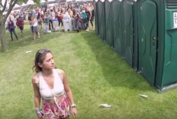 VIDEO: Uhh – vaata, mis selle naisega juhtub, kui ta ühel festivalil tualetti külastab