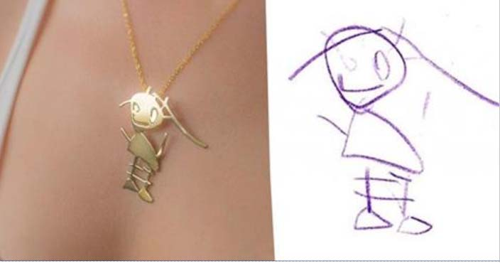 Need kunstnikud muudavad sinu lapse joonistused kauniks ehteks