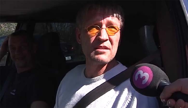 VIDEO: Telemees Peeter Võsa kihutab Eesti teedel endiselt naelrehvidega ning kurjustab reporteriga.