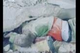 VIDEO: Väike laps on suure betoonikamaka all kinni, kuid pääseb imekombel eluga