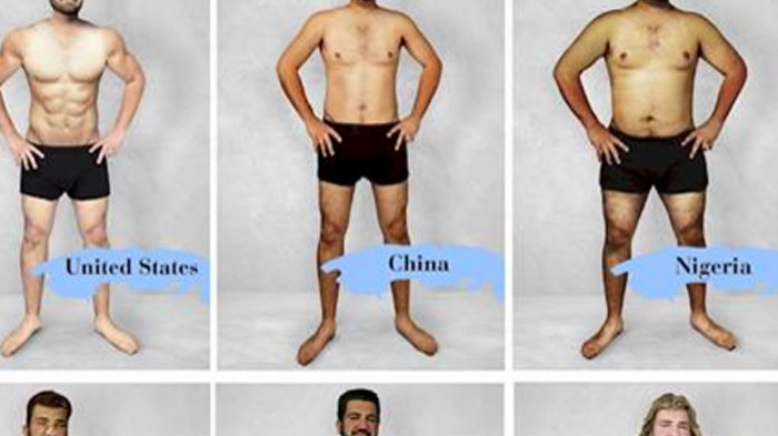 FOTOD: 18 riigi disanerid kujundasid mehe foto selliseks, et see oleks nende riigis atraktiivse kehaga mees