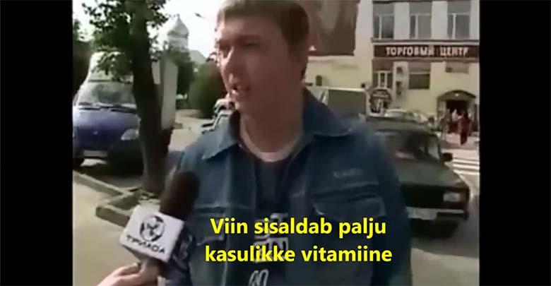 VIDEO: SEE VENELANE SELETAB, MIKS tema kunagi vett ei joo ja miks ta vee asemel viina joob