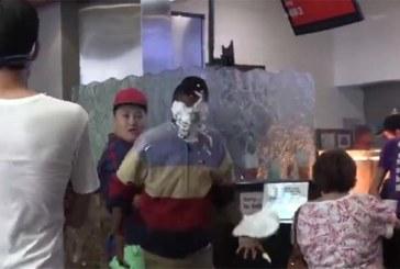 VIDEO: JULMAD NALJAD – MEES paneb tänaval suvalistele inimestele tordi näkku