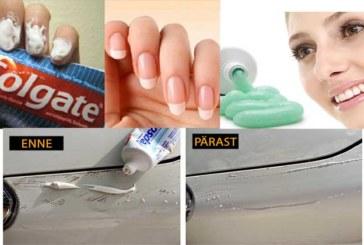 MA POLEKS KUNAGI USKUNUD, et hambapastaga võib nii palju asju teha. Vaata neid imelisi trikke…
