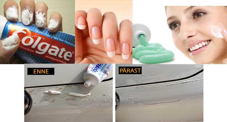 MA POLEKS KUNAGI USKUNUD, et hambapastaga võib nii palju asju teha. Vaata neid imelisi trikke...