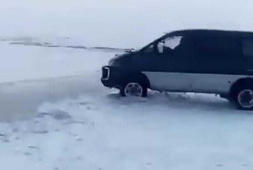 VIDEO:  LOOTUS SUREB VIIMASENA – vaata, kas tüübil õnnestub autoga üle jääprao hüpata