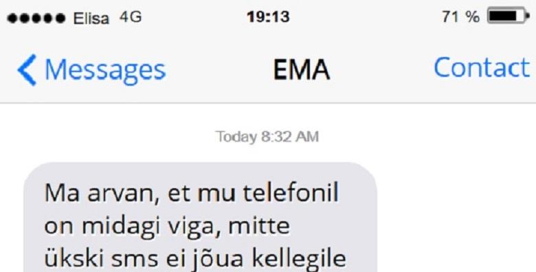 SEDA EMA saadetud sõnumit peab nägema - hahaha