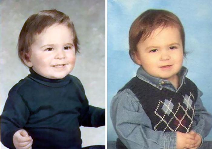 Isa ja poeg 2-aastaselt