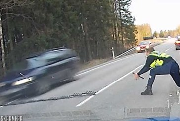 VIDEO: ÜLIKIIRE JA TÄPNE tegutsemine Jõgevamaal politsei poolt – sõiduk peatati siiliga
