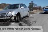 VIDEO: TALLINNA LÄHEDAL RAMMIS purjus juht  poste ja üritas põgeneda