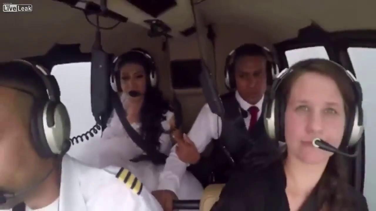 ŠOKEERIV VIDEO: PRUUT soovis pulmakülalisi üllatada saabudes helikopteriga - saatusel olid aga muud plaanid