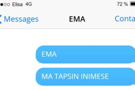 VAENE ema – selline sms pojalt…