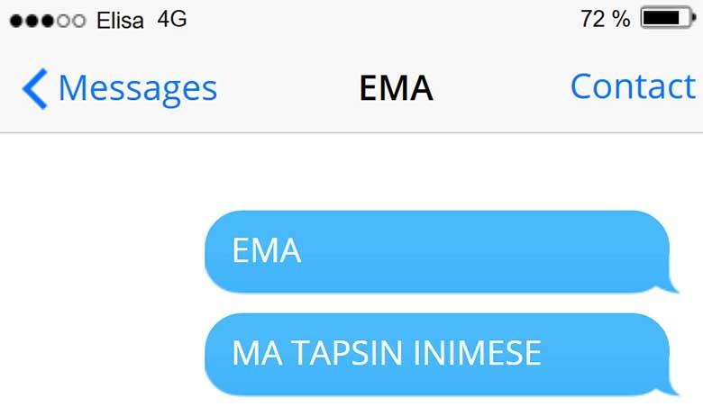 VAENE ema - selline sms pojalt...
