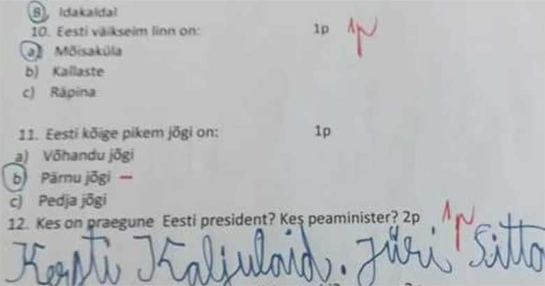 FOTO: LAPSESUU EI VALETA? See laps teab, mis Eesti peaministri nimi on
