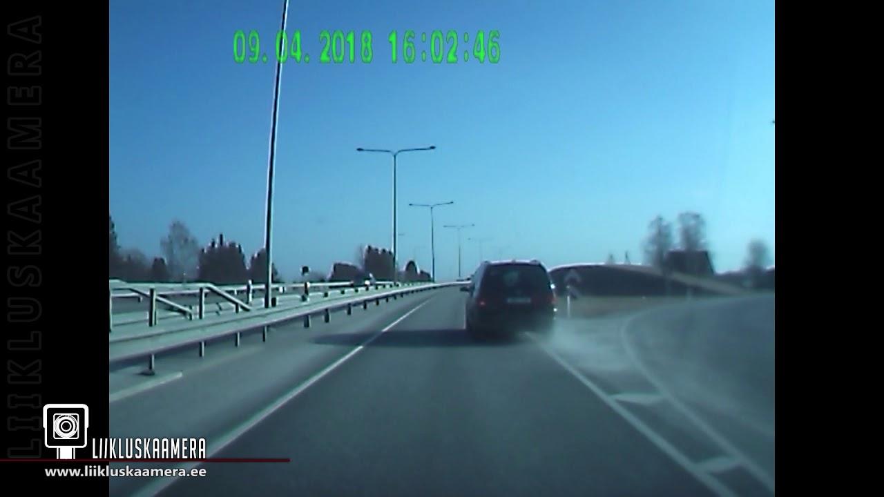 VIDEO: EI OLE TÄPSUSTATUD, millises kohas Eestis see juhtus, kuid see tüüp on korralik kaskadöör liikluses