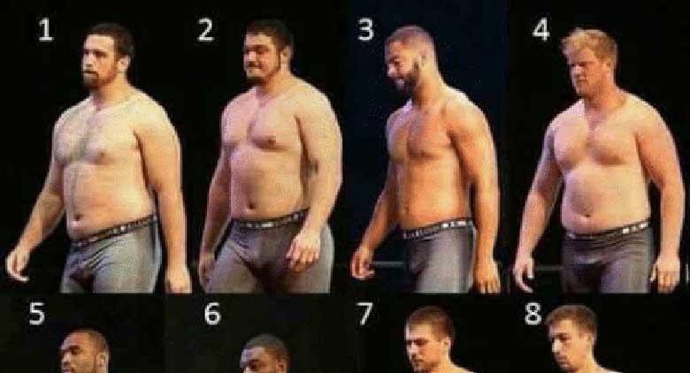 12 mehe kehakuju - milline neist on kõige meeldivam?