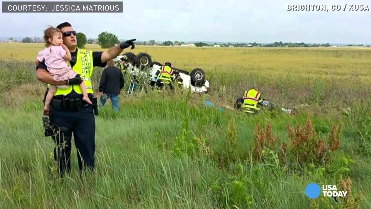 VAATA, MIDA tegi see politseinik selle 2-aastase lapsega, kui ta isa avariis oma elu kaotas