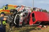 MURASTES TOIMUS raske liiklusõnnetus kiirabiauto ja väikekaubiku vahel