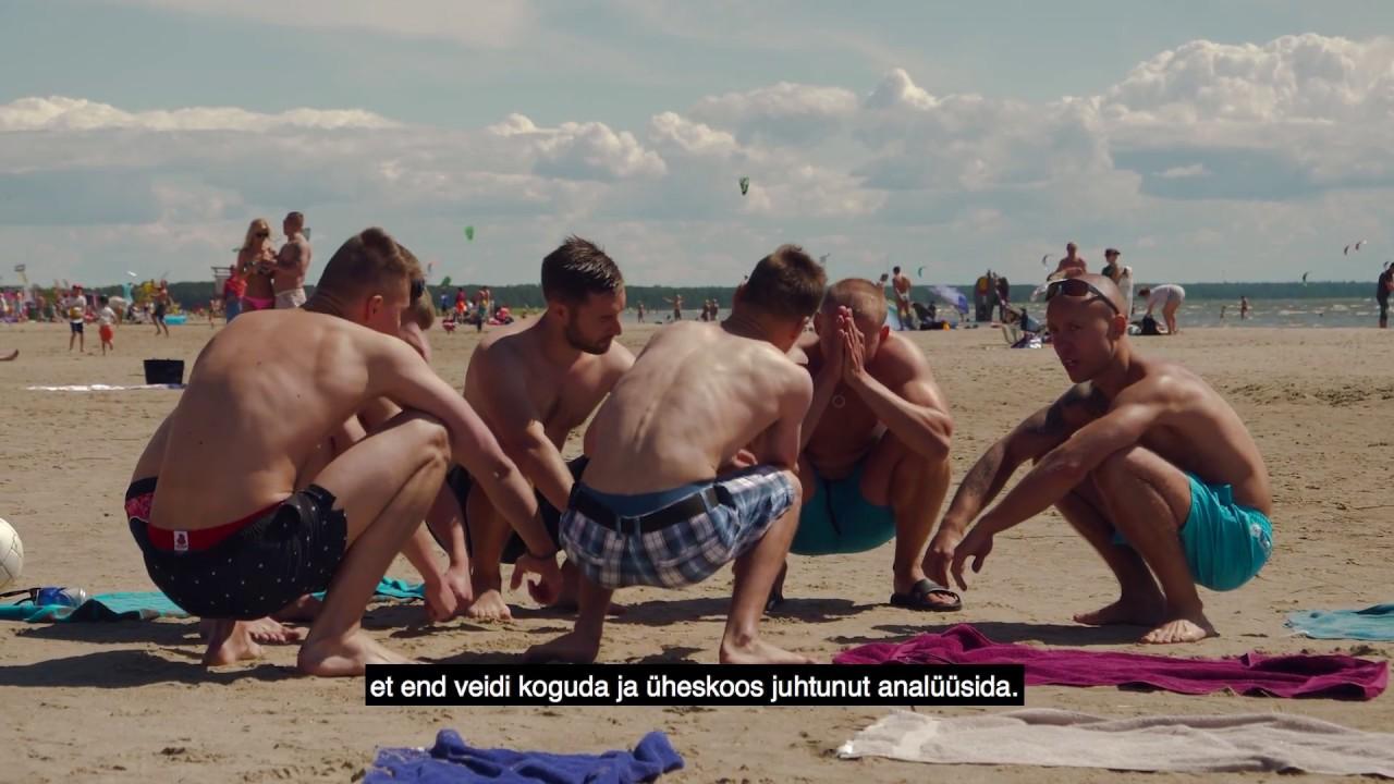 VIDEO: Silekael rullnokad Pärnu rannas