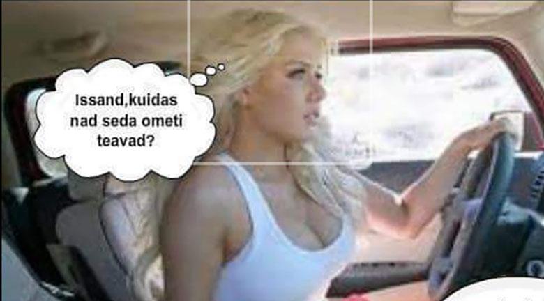 NALJA ELUST ENESEST - Blondiin sõidab autoga ja...