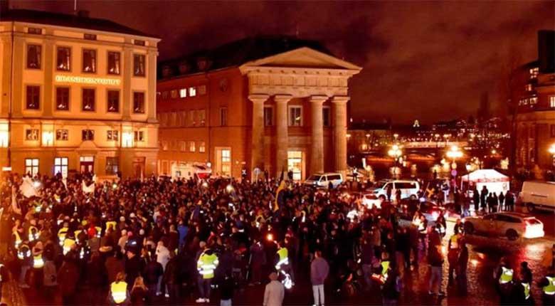 Inimesed on tulnud Rootsis tänavatele! Kollased vestid  avaldavad Rootsis meelt ÜRO rändeleppe vastu
