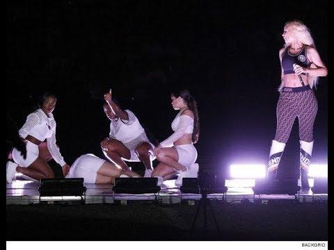 VIDEO: Iggy Azalea kontsert peatati, kuna tantsija kukkus kokku! Krampides tantsija toimetati kanderaamiga ära.