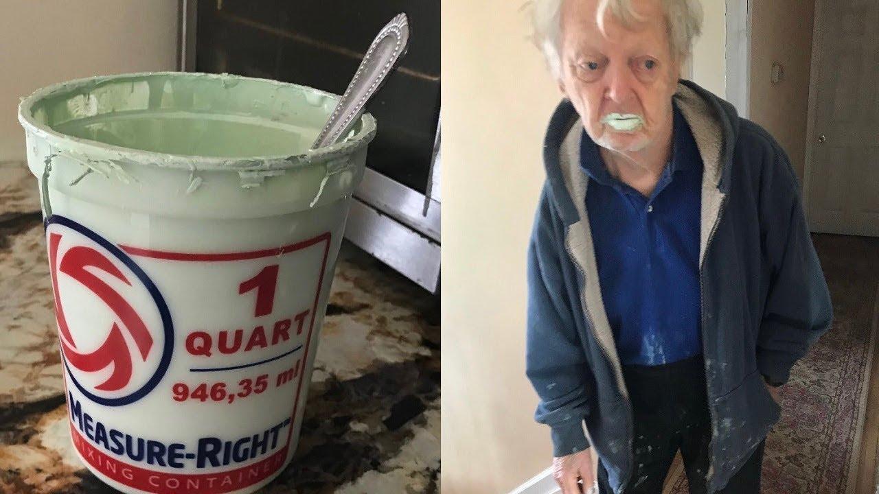 90-aastane mees sõi kogemata jogurti asemel värvi, kiites selle maitset taevani