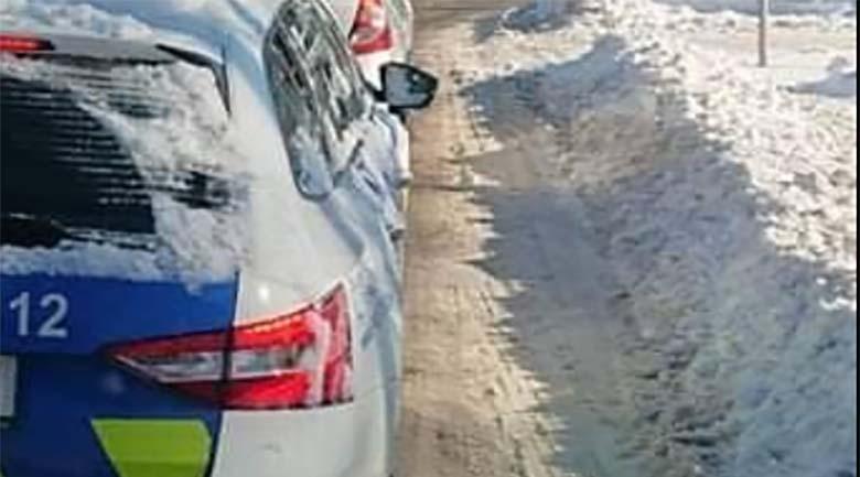 FOTO: OPAA – Vaata, millise lumemütsiga politsei Tallinnas ringi sõidab