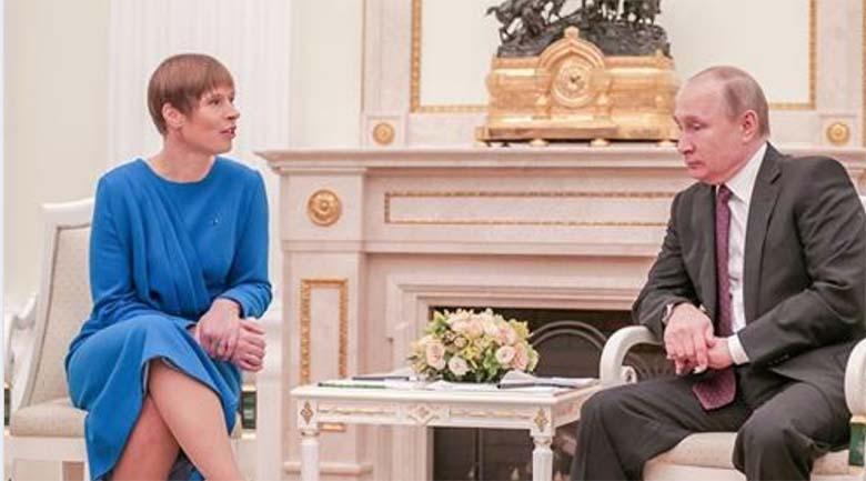 VENELASED viskavad nalja – vaata, mida Putin Kaljulaidist arvab