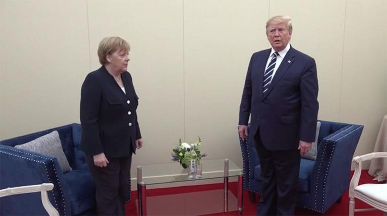 Trump jättis Merkeli nagu koolitüdruku seisma ja isegi ei tervitanud prouat käepigistusega
