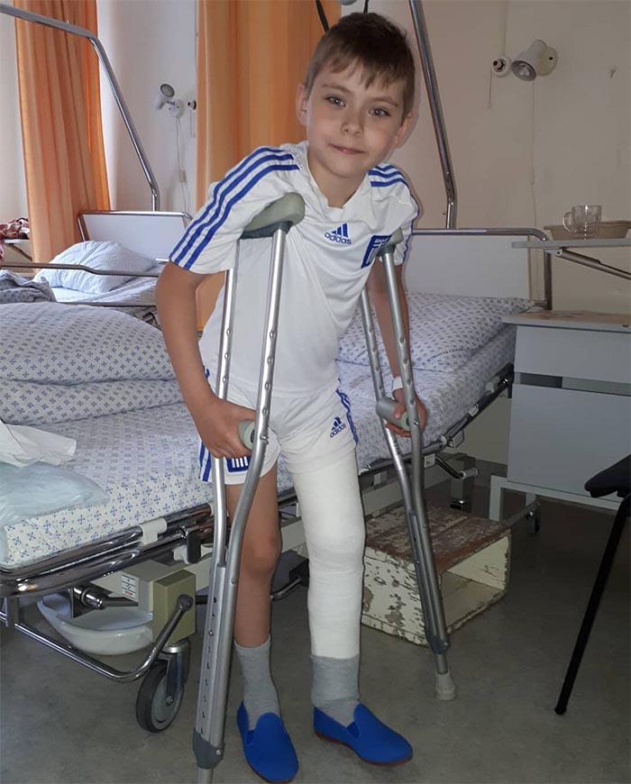 FOTO: Väikese Oliveriga juhtus õnnetus, mis saatis ta haiglasse
