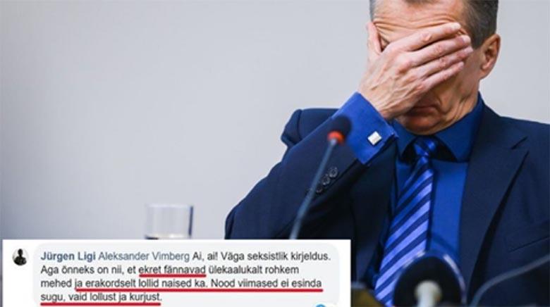 """Jürgen Ligi: """"EKREt fännavad erakordselt lollid naised! Nad ei esinda sugu, vaid lollust ja kurjust."""""""