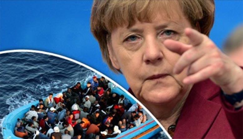 """Angela Merkel kutsub ELi liikmesriike üles alustama """"päästeoperatsioone"""" Vahemerel, et valitsuse laevad päästaksid jälle elusid."""