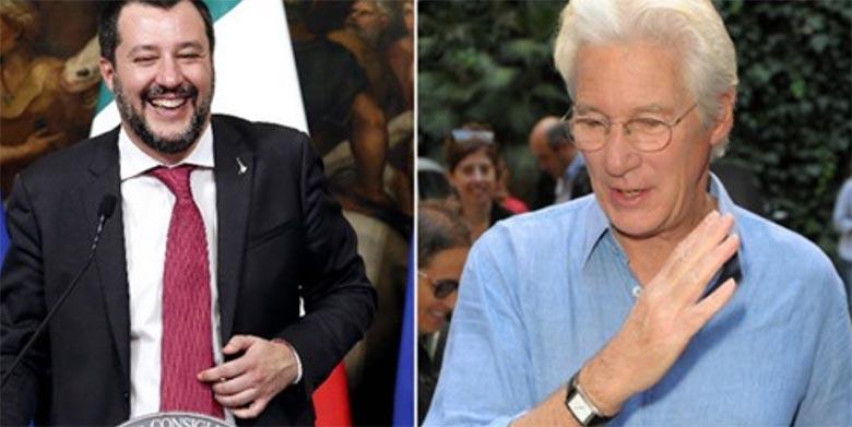 """Itaalia siseminister vastas Richard Gere´i kriitikale: """"vii põgenikud oma eralennukiga Hollywoodi!"""""""