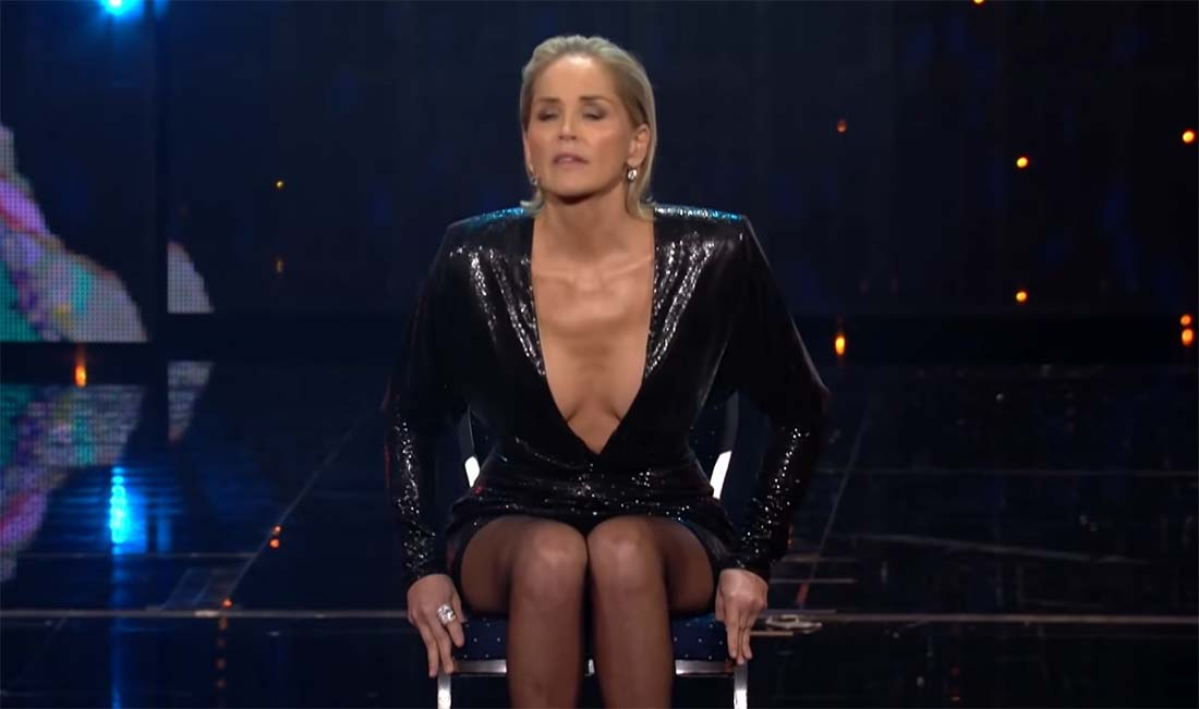 VIDEO: Sharon Stone jäljendas filmi