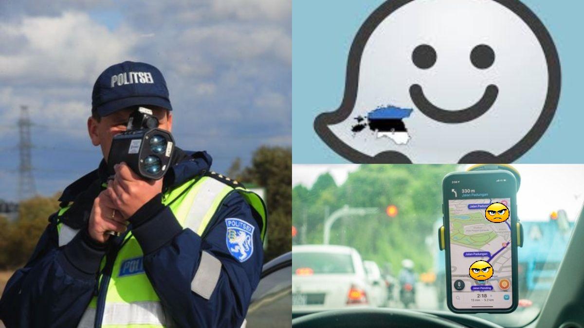 Kaardirakendus Waze näitab pühade ajal liiklejatele, millises tujus on patrullpolitseinik