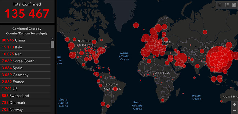 KAART: VAATA ohtliku koronaviiruse levikut reaalajas – viirus on vallutanud Euroopa