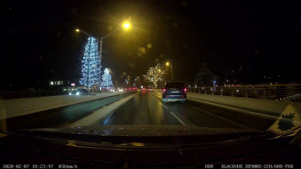 Pardakaamera video: Natukene jäi puudu – Maastur oleks peaaegu Pirita sillalt alla sõitnud