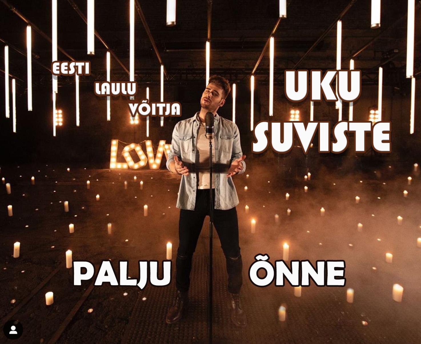 PALJU ÕNNE Uku Suvistele Eesti Laul 2020 võidu puhul – see oli ülekaalukalt eestlaste lemmik